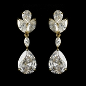 Earring 2807 Gold Clear