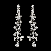 Silver Clear Earring Set 8474