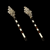 Gold with Clear Stones Hair Accents Bobby Pin 70371 ***Discontinued***