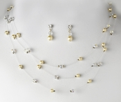 * Necklace Earring Set NE 205 Ivory