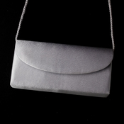 * Wonderful Silver Satin Evening Bag 214
