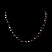 "Elegant 30"" Knotted Chocolate Brown Pearl Necklace N 8340"