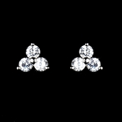 Past, Present & Future Silver Cubic Zirconia Earrings E3586