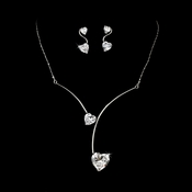Floating Hearts Cubic Zirconia Necklace NE 3726 CL