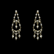 Earring 4300 Gold Clear