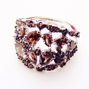 Brown Cubic Zirconia Rings  ( Size 6 in Stock )