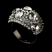 Glamorous Crystal Ring 166 Silver Clear