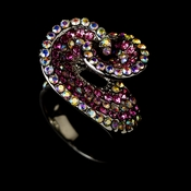 Fabulous Shades of Pink Crystal Ring 161