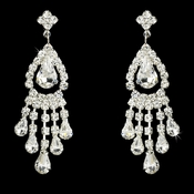 Silver Clear Chandelier Earring E 24792