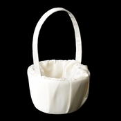 Flower Girl Basket 9 Ivory