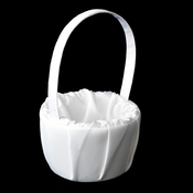 Flower Girl Basket 9 White