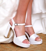 * Haj 2 Dyeable Bridal Wedding Shoes 5012