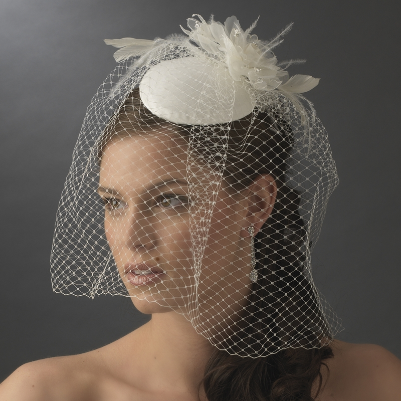 Whole Vintage Bridal Hat With Bird Cage Face Veil White Or Ivory In Stock