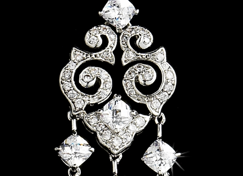 Elegant Vintage Cubic Zirconia Earrings E 1633 **Discontinued**