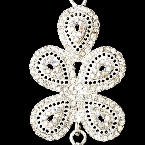 Silver Clear AB Earring Set 8475