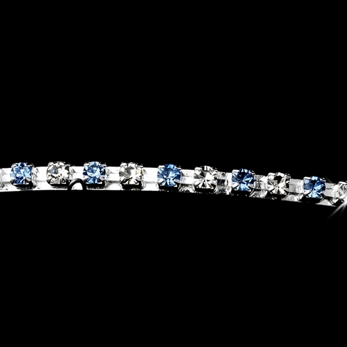 * Light Blue Bridal Headband HP 412