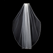 "VSW 1E White - Swarovski Rhinestone Edge Veil, Single Layer Elbow Length Veil (30"")"