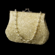 Glistening Ivory Beaded Satin Evening Bag 2022***Discontinued***