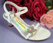 Childrens Butterfly Shoes White