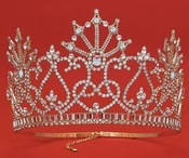 Wholesale Crystal Rhinestone Pageant Crowns Tiaras HP 6084
