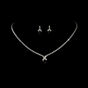 Beautiful Black Crystal Jewelry Set NE 342