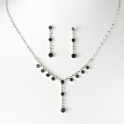 Necklace Earring Set NE 7157 Black