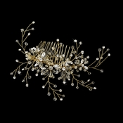 * Swarovski Crystal Bridal Comb 6486 Gold ***Discontinued****