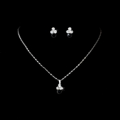 Necklace Earring  Set NE 110 Silver Black