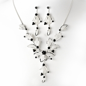 Necklace Earring Set NE 8280 Black