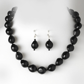 Necklace Earring Set 8325 Black