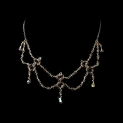 * Light Amethyst Swarovski Crystal Necklace N 240 ***3 Left***