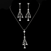 Necklace Earring Set N 3811 E 3809 Silver Clear