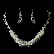 Necklace Earring Set N 8383 E 8382 Silver AB