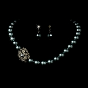 Necklace Earring Set 1023 Hematite