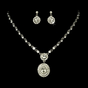 Necklace Earring Set 1024 Silver