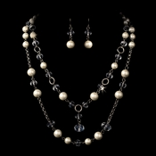 Necklace Earring Set 1040 Ivory