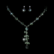 Necklace Earring Set 1041 Peridot