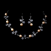 Necklace Earring Set 1043 Light Rose