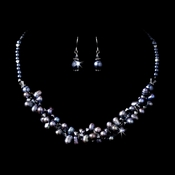 Necklace Earring Set 1044 Hematite