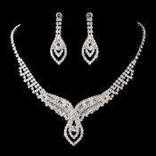 Necklace Earring Set11182 Silver Clear
