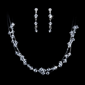 Crystal Accenting Bridal Necklace & Earring Jewelry Set NE 1978