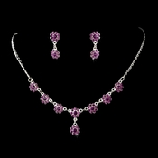 * Necklace Earring Set 331 Purple