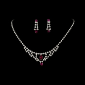 * Necklace Earring Set 340 Fuchsia
