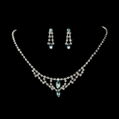 * Necklace Earring Set 340 Light Blue