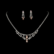 * Necklace Earring Set 340 Pink