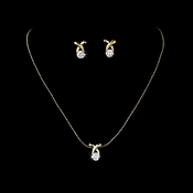 Necklace Earring Set 6006 Gold