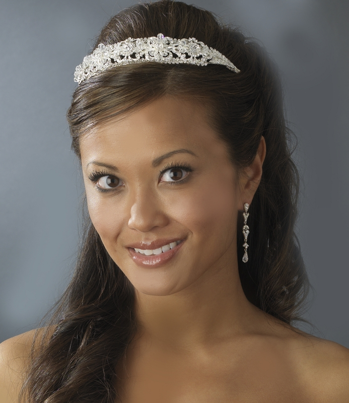 wedding hair styles swarovski silver bridal headband hp 8273 4628