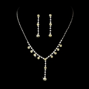 Necklace Earring Set 7157 Silver Yellow