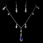 Necklace Earring Set NE 8128 Silver AB