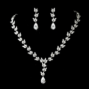 Elegant Necklace & Earring Bridal Jewelry Set N 8170 & E 8170